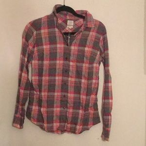 Jcrew red and grey flannel